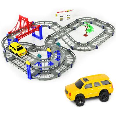 橙爱立昕 梦幻组合轨道汽车 电动轨道车 儿童玩具车 车模玩具益智玩具限时钜惠
