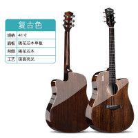 W-31亮光单板木吉他初学者男女生自学民谣面单40寸41寸学生用