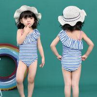 儿童泳衣女女童连体2-3女孩温泉1-2岁小童裙式女孩宝宝婴儿游泳衣