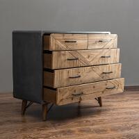 美式柜家具五斗柜简约现代仿水泥家具客厅卧室柜子