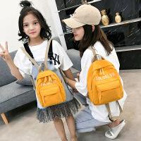 2019新款韩版百搭小背包学生包儿童背包母女亲子包帆布双肩包