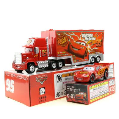 汽车总动员玩具车TOMY合金赛车阿麦装载卡车货柜车麦大叔