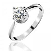 梦克拉 钻石戒指18K金戒指钻戒结婚戒指女戒 体会 婚戒30分H色 可礼品卡购买