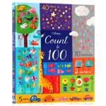 数到一百 Usborne 英文原版 Count to 100 数字认知 尤斯伯恩图书 数学启蒙早教书英语绘本 亲子互动