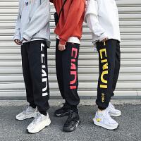 冬季潮牌ins运动裤男宽松加绒工装裤男卫裤嘻哈boy裤子小脚休闲裤