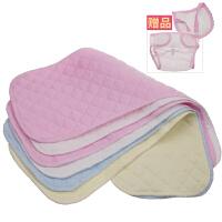 尿布纯棉新生婴儿可洗夏季30片装0-3-6个月100%全棉新生儿介子布 三层混合色30条 4个颜色随机3个 L