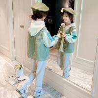 女童秋�b套�b洋��和��l衣中大童女三件套