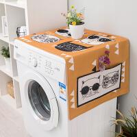 北欧风格海尔全自动滚筒洗衣机套防水防晒防尘冰箱微波炉盖布罩子