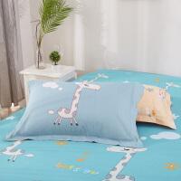 伊迪梦家纺 全棉枕套单品 高支高密纯棉斜纹 环保印染枕套hc342