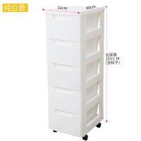 2019新品简易床头柜塑料可移动抽屉式收纳柜子带轮子卧室储物柜欧式置物柜