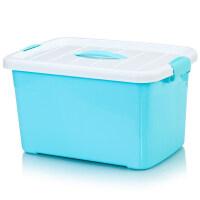 透明收纳箱塑料储物箱整理盒玩具筐大中小号箱子衣周转置物箱定制