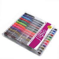 日本三菱中性笔/彩色水笔书写流利钢珠笔UM-100 12色套装