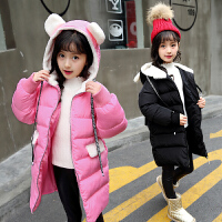 5童装6女童中长款棉衣外套7加厚8棉袄9连帽10秋冬装12岁潮