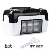调味罐调料盒置物架组合装 厨房用品盐罐调料罐收纳盒套装