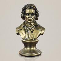 创意家居人物雕像摆件古典欧式音乐家贝多芬雕塑头像书房书柜玄关样板房音乐厅艺术品