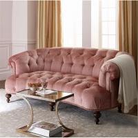 【品牌特惠】美式乡村三人布艺皮艺沙发欧式简欧样板房新古典小户型沙发