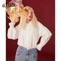 【2件2折后到手价:133】【新款】妖精的口袋纯色灯笼袖娃娃领衬衫女2020冬季百搭长袖上衣