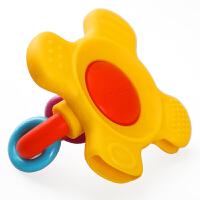 贝牙胶 婴儿磨牙棒牙胶玩具 宝宝牙胶摇铃 硅胶 软6-12个月