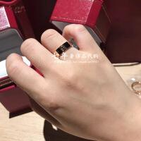 六一儿童节520代购/LOVE 18K玫瑰金黄金戒指窄版宽版情侣对戒