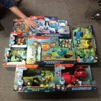 费雪玩具舰艇套装章鱼堡灯笼鱼过家家儿童节礼物