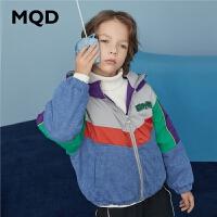 MQD童装男童棉衣2020冬装新款中大童韩版儿童加厚保暖牛仔外套潮
