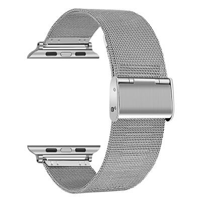 苹果手表米兰尼斯不锈钢运动iwatch4/3/2/1带38/42mm男女iphone series回环 默认发42mm长款。其他长度联系客服