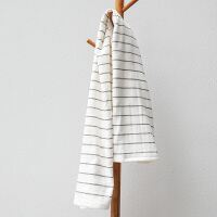 日系纱布浴巾纯棉柔软女情侣个性大号吸水不掉毛可爱韩版全棉 白色 白条纹(送毛巾) 140x70cm