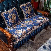 欧式沙发垫防滑四季通用布艺美式皮沙发垫123组合三件套