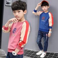 2019春秋季新款中大童男孩韩版打底衫儿童装男童洋气卫衣