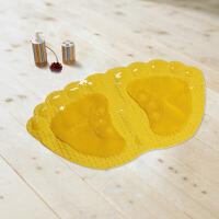 享家大达 黄色大脚丫防滑耐用按摩浴室防滑垫36*60�M地垫 卫生间垫子 洗澡垫 卫生间垫黄色