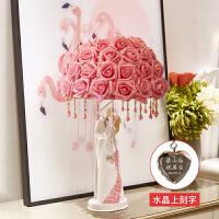 创意结婚礼物新婚庆闺蜜卧室订婚房摆件实用*品欧式装饰品台灯