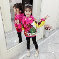 2019春秋季新款韩版儿童洋气时尚上衣童装女童秋装卫衣