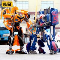 变形玩具金刚儿童男孩汽车机器人6岁7-10合金版恐龙模型