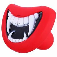 Madden 麦豆宠物用品 搪胶卡通魔鬼牙齿*牙齿狗狗玩具  宠物发声玩具