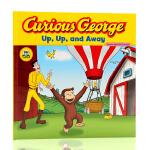 英文原版绘本Curious George好奇猴乔治Up Up and Away 热气球 平装绘本 寓教于乐