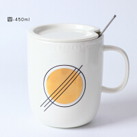 20190702043558586创意骨瓷咖啡马克杯带盖勺简约文艺大容量情侣陶瓷水杯子