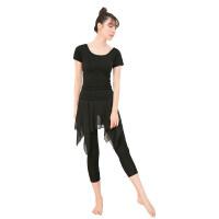 舞蹈练功服套装女衣服黑色裙裤莫代尔形体古典现代民族舞服装