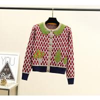 欢乐颂2王子文曲筱绡同款毛衣服女娃娃领针织开衫的上衣潮 图片色