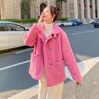 2019新款冬女装韩版宽松短款仿羊羔毛外套女皮毛一体羊毛羔绒潮906