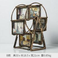 个性相框摩天轮 创意个性家居摩天轮装饰品小摆件欧式复古客厅卧室相框摆台摆设B