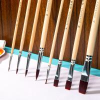 柏伦斯水粉笔套装美术专用水彩画笔色彩初学者手绘油画丙烯颜料排笔平头尼龙猪鬃画笔刷专业美术画具画材