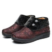 冬季老北京布鞋女鞋加绒保暖奶奶鞋中老年棉鞋软底老人妈妈鞋
