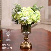 欧式摆件客厅花瓶工果盘烟灰缸套装样板房美式装饰摆设客厅插花