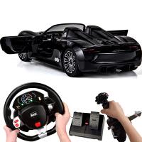 遥控汽车保时捷方向盘充电动男孩儿童玩具车高速赛车跑车模型