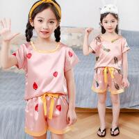 夏季儿童睡衣薄款女童家居服中大童空调服短袖套装