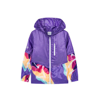 【券后价129】安踏儿童中大童女童夏季外套运动拼接时尚梭织薄外套 362025610