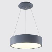 现代简约创意空心后现代圆形餐厅办公简约吊灯 黑灰色亚克力北欧吧台吊灯