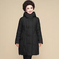 中老年女装冬装羽绒加肥加大码中长款妈妈装棉衣秋冬40-50岁