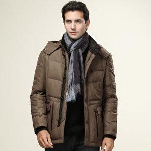 骆驼男装 新款上市 男士休闲羽绒服 棉质外套