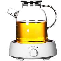 唐丰玻璃花茶壶花茶茶具套装电加热玻璃茶具下午茶茶具水果花茶壶